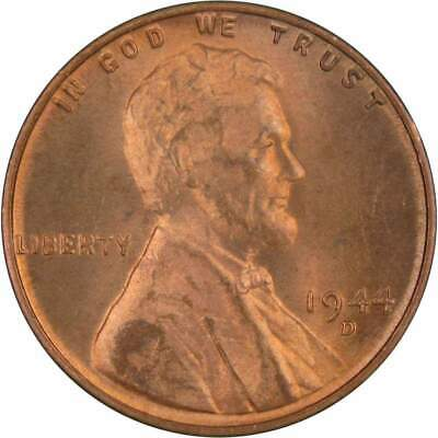 1944 D 1c Lincoln Wheat Cent Penny US Coin Uncirculated Mint State