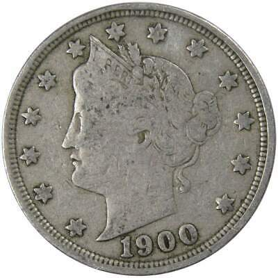 1900 5c Liberty Head V Nickel US Coin About Fine