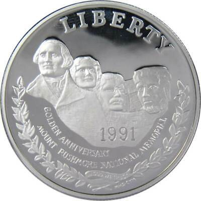 1991 S $1 Mount Rushmore Commemorative Silver Dollar Coin Choice Proof