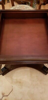 Solid Wood Game Table With Removable Chess,Checkers,Backgammon Board.