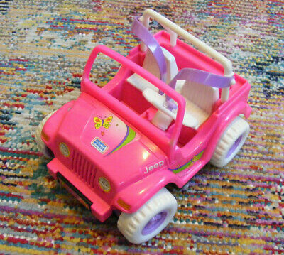 1997 MATTEL BARBIE Kelly Doll Pink Power Wheels Jeep Clean Excellent  Electric