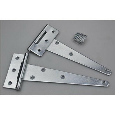 Tee Hinges Decorative Heavy Duty Strap T Hinge Door Gate Shed BB