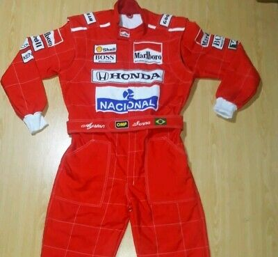 Ayrton seena F1 Racing suit 1991 karting printed  suit