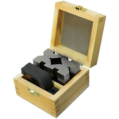 "1-5/8"" x 1-3/4"" x 2-3/4"" V Block & Clamp Set Steel Gauge Gage Machinist Tool"