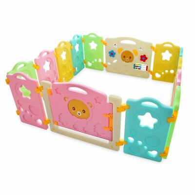 14 Panel Baby Playpen, Safety Play Yard for Kids Toddler Baby, Colorful Cute