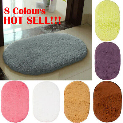 Soft Cosy Anti-Skid Shaggy Rugs Fluffy Living Room Area Carpets Bedroom Bathroom