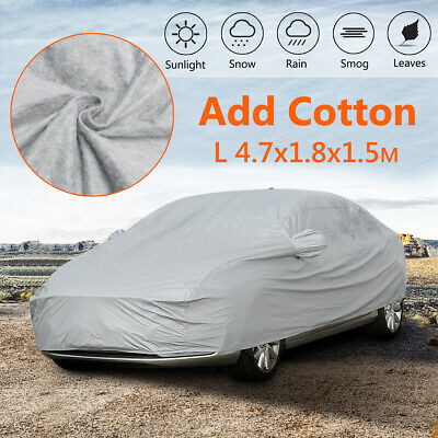 Universal Heavy Duty Size L Full Car Cover Waterproof Snow Rain UV Protection
