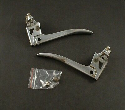 vintage bicycle chrome steel Brake Levers with cable end caps