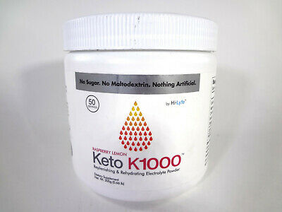 Keto K1000 Replenshing & Rehydrating Electrolyte Powder RaspberryLemon 300g{VS-K