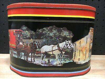 Vintage Arnott's Famous Biscuits Biscuit Oval Tin William Arnott