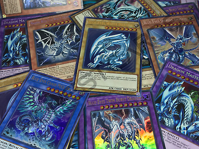 Yugioh! 💎Premium 💎Blue-Eyes White Dragons Collection Lot! All Holographic!
