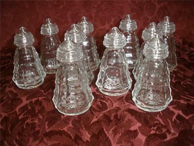 Bulk Lot Of Patterned Glass Salt & Pepper Shakers X 10