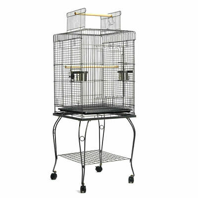 iPet 145cm Bird Cage Parrot Aviary Pet Stand-alone Budgie Perch Castor Wheels L