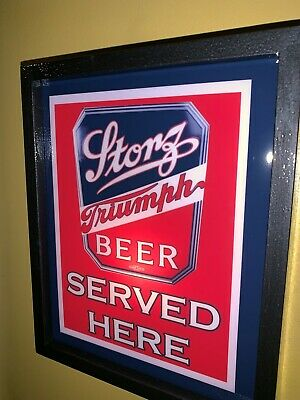 Storz Triumph Beer Bar Tavern Man Cave Lighted Advertising Sign