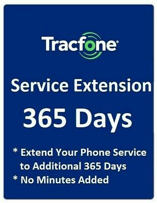 TracFone Service Days Extension 1 Year / 365 Days for TracFone digital refill.