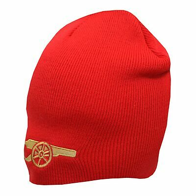 Arsenal FC Official Gunners Design Knitted Beanie Hat (SG9523)