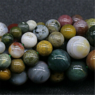 1pcs 6-12mm Marine Agate Round Beads Loose Bead 15 Inches Gemstone Craft Lots
