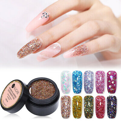 UR SUGAR 15ml Sparkling Tips Extension UV Gel Polish Nail Art Quick Building Gel