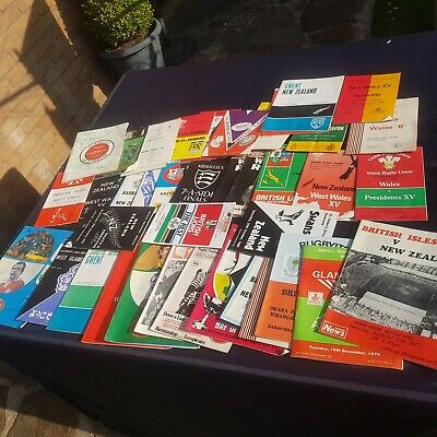 British Lions Tours and Welsh Club Match Programmes (60s, 70s and 80s)