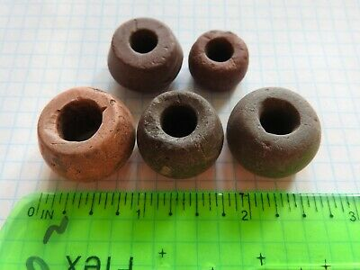 Set of 5 ancient stone spindles of Kievan Rus 900-1100 Viking Age Textile Craft