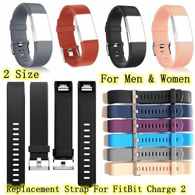 Replacement Watch Strap For Fitbit Charge 2 Strap Sports Silicone Wrist Band UK✅