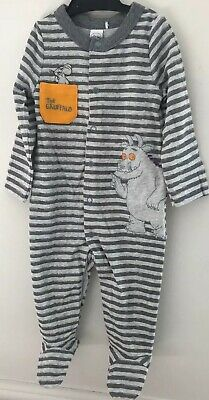 3-6 Months  ~ 62-68 Cms  The  Gruffalo And  Child Peach Cotton Sleepsuit
