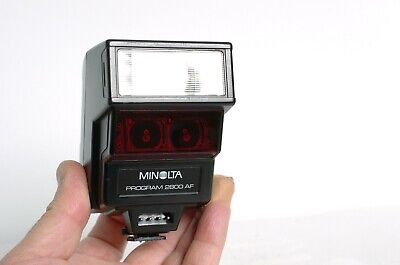 Minolta Program 2800AF Flash Unit for maxxum 7000 film cameras and SONY Digital!