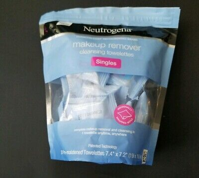 Neutrogena Makeup Remover Cleansing Towelette Singles, Daily Face Wipes Remover