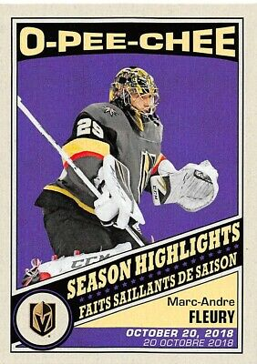 19/20 O-Pee-Chee Opc Season Highlights Retro #591-600 *66357
