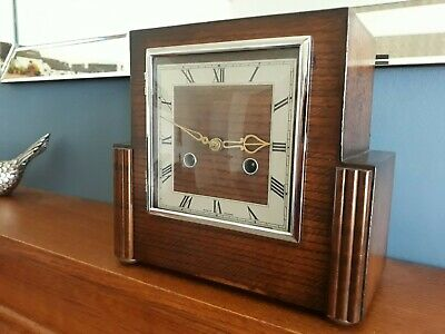 SMITHS ENFIELD Art Deco Mantle Clock with Instruction Leaflet Key Fully Working