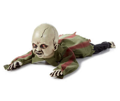 Animated Crawling Baby Zombie Halloween Scary Doll Haunted House Prop New 🔥