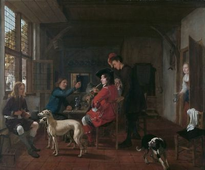 """perfect oil painting handpainted on canvas """"Meeting in the tavern """"@N13485"""