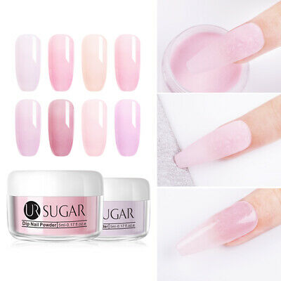 UR SUGAR 5ml Jelly Pink Dipping Powder Gradient French Tips Nail Starter Kits