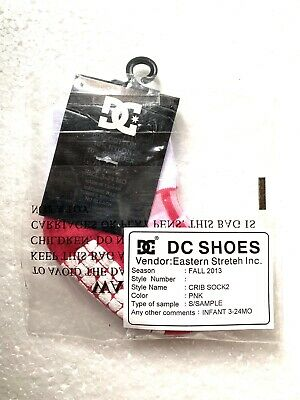 DC Shoes Crib Infant Baby Socks 3-24 Month Deep Pink Sample Socks