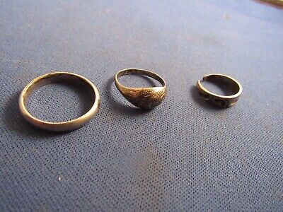 Vintage Sterling Silver Two Ring And A Toe Ring, Set Of Three Rings