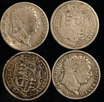 Sixpence George III 1816 to 1820 Choose your Date Lucky - Weddings ? (T94)