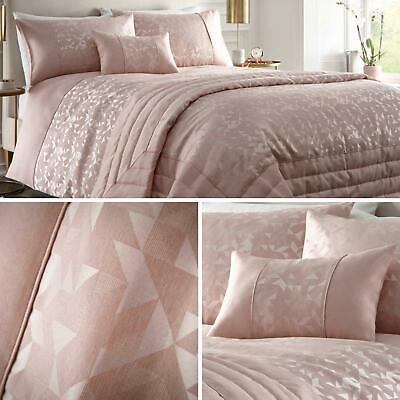 Pink Duvet Covers Blush Geometric Jacquard Quilt Sets Luxury Bedding Collection