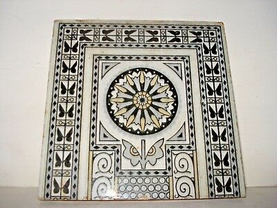 Antique Minton  Tile Victorian Edwardian/ Victorian  Reclaimed