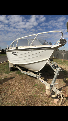 CUSTOM BUILT 5.4m18ft  BOAT OF THE YEAR 1989 100hp MERCURY OUTBOARD WITH TRAILER