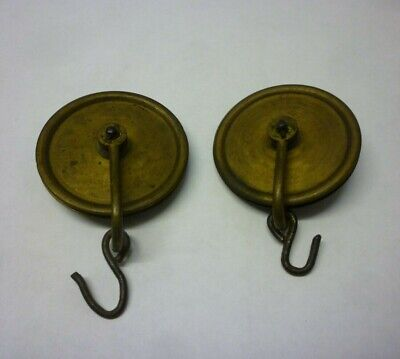 Two 18th Century 8 Day Longcase Grandfather Clock Weight Pulleys (N22)