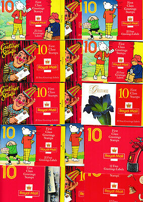 340 x 1st CLASS GREETINGS STAMPS in 34 BOOKS for CHEAP POSTAGE Face £238 £58 off
