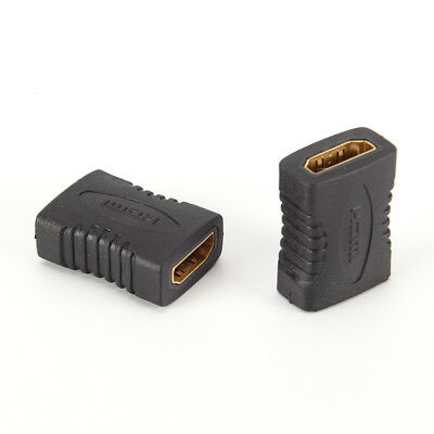 2x HDMI Female to Female Coupler Extender Adapter Connector F/F for HDTV HD ECEL