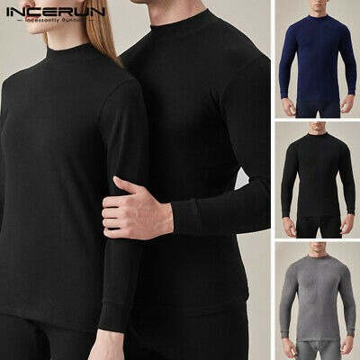 Men's Turtle Neck Sweater Thermal Stretch Shirt T Shirts Winter Warm Jumper Tops