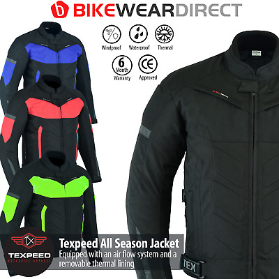 Waterproof Motorbike Jacket With CE Protective Armour Thermal Motorcycle Biker
