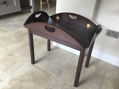 Elegant Mahogany Butlers Tray Side Coffee Hall Table