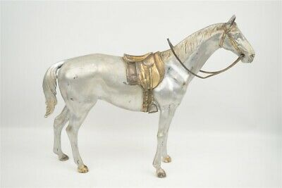Large Vintage Art Deco Weidlich Bros Hollow Cast Pewter Riding Horse Sculpture