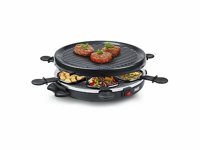 Plaque Grille Appareil Raclette 800 W Steak Salade Fromage - 4 Pers - Noir