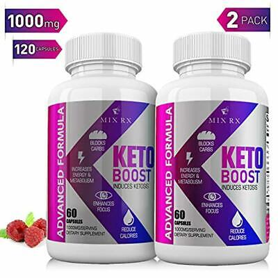 (2 Pack   120 Capsules) Keto Pills with Carb Supplement - Exogenous Ketones - Ut
