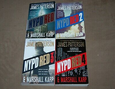 First 4 Volumes of NYPD RED Series by James Patterson - Paperbacks