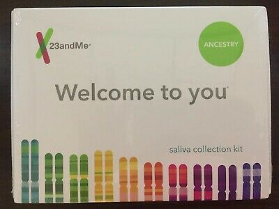 New 23andMe Personal Ancestry DNA Kit- Lab Fee Included. Saliva Test